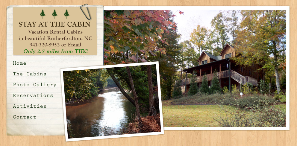 Stay At The Cabin   Vacation Rental Cabins In Rutherfordton, NC